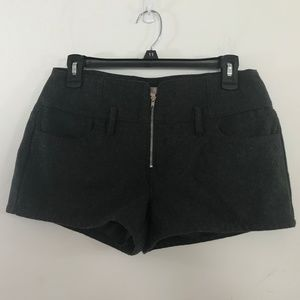 Forever 21 Dark Gray Wool Blend Shorts Size XS